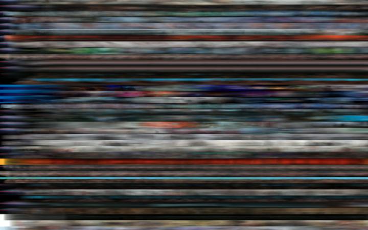 Verschieden-farbige streifen
