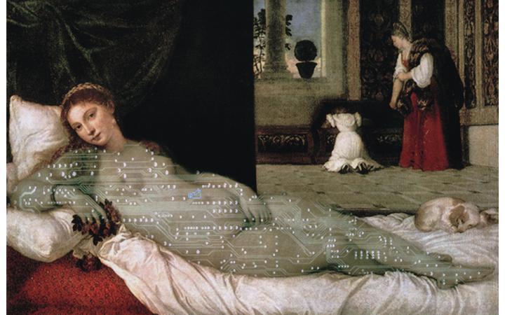 Lynn Hershman Leeson, Digital Venus-Titian; 1988  Digitaldruck