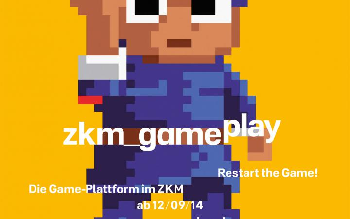 Ein Computermännchen mit blauem Anzug, der den linken Arm in die Höhe streckt