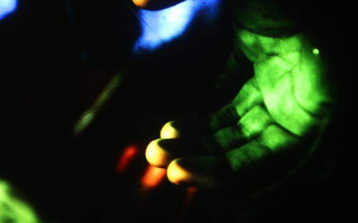 Eine grüne Hand