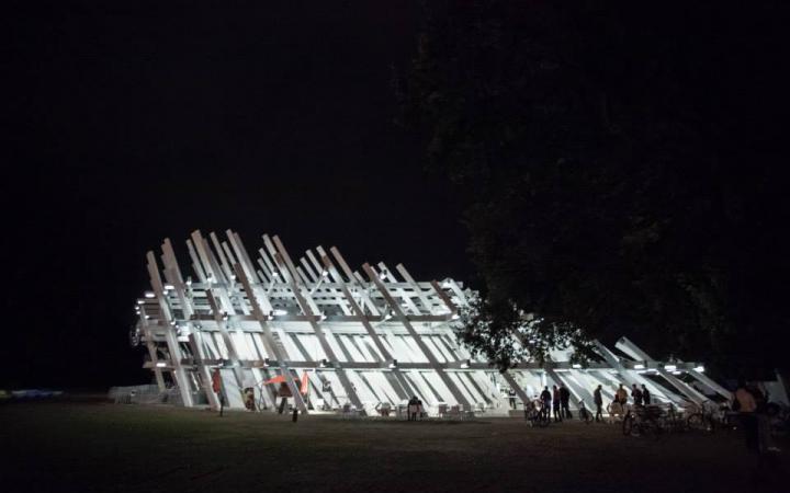 Ein Pavillon