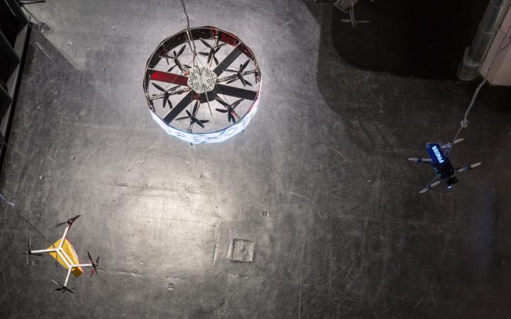 Blick von oben: Ein Kreisel