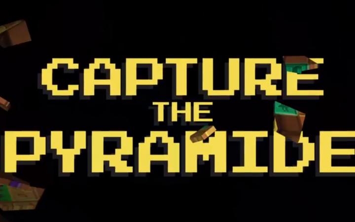 """""""Capture the Pyramide"""" in verpixelter Schrift"""