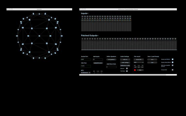Screenshot von inputs und outputs
