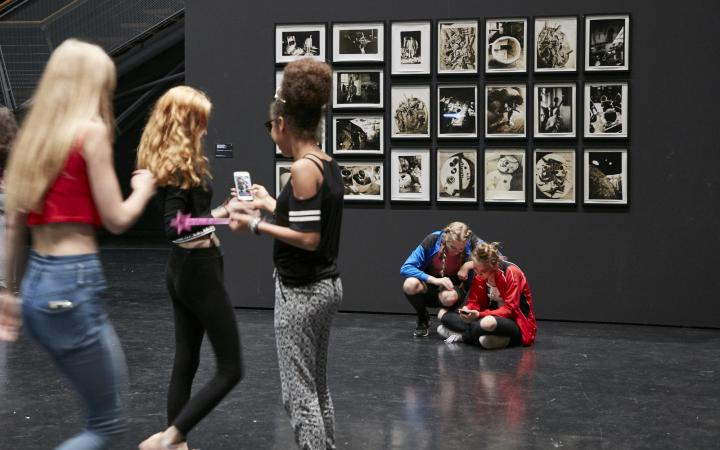 young adults in the museum