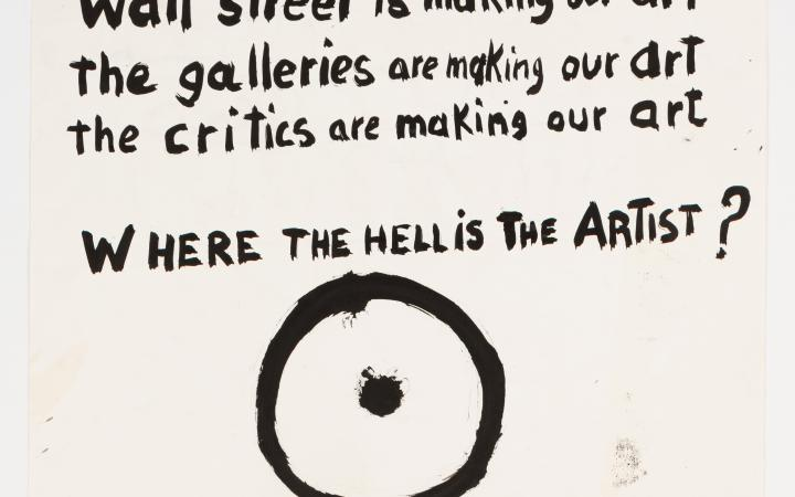 Aldo Tambellini, »Black Matters« - Where the hell is the artist