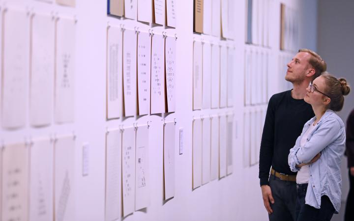 Besuche am Eröffnungsabend der Ausstellungsserie »Poetische Expansionen«