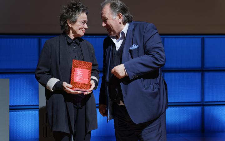 Laurie Anderson at the Award Ceremony of the Giga-Hertz Award Ceremony