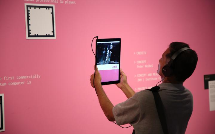 Blick in die Ausstellung »Open Codes. Digital Culture Techniques«, Mumbai.