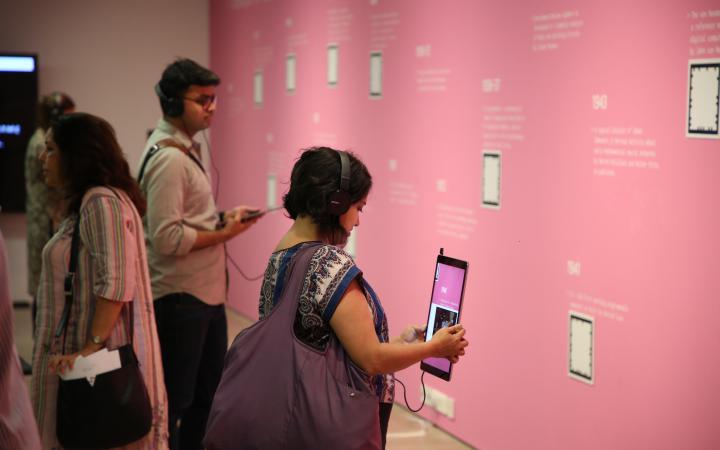 Exhibition view »Open Codes. Digital Culture Techniques«, Mumbai