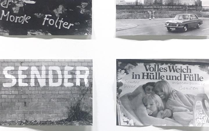 Fotos mit Dokumentationen von Graffitis