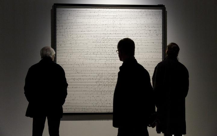 Blick in die Ausstellung »DIA-LOGOS. Ramon Llull und die Kunst des Kombinierens«