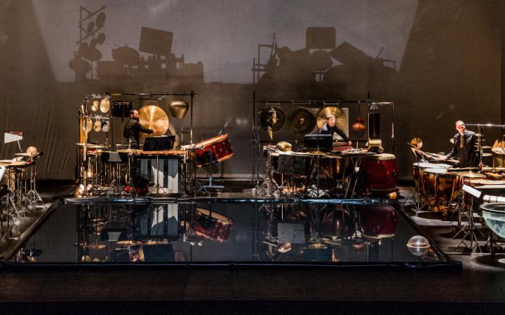 Les Percussions de Strasbourg performing