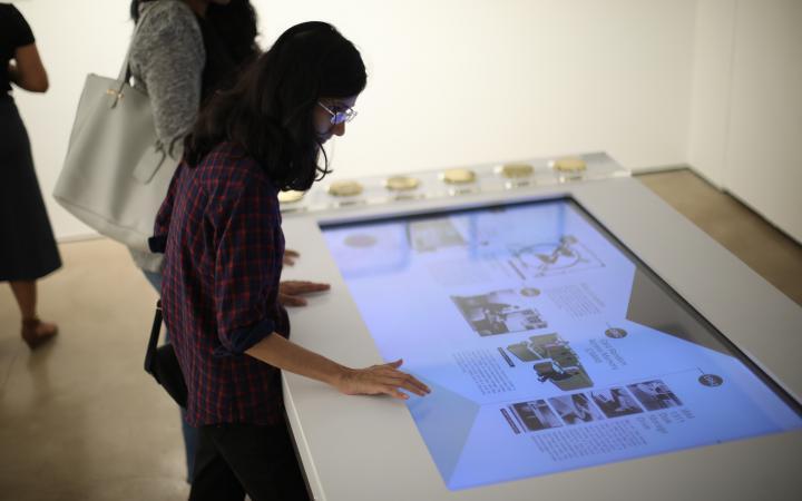Blick in die Ausstellung »Open Codes. The Art of Coding«