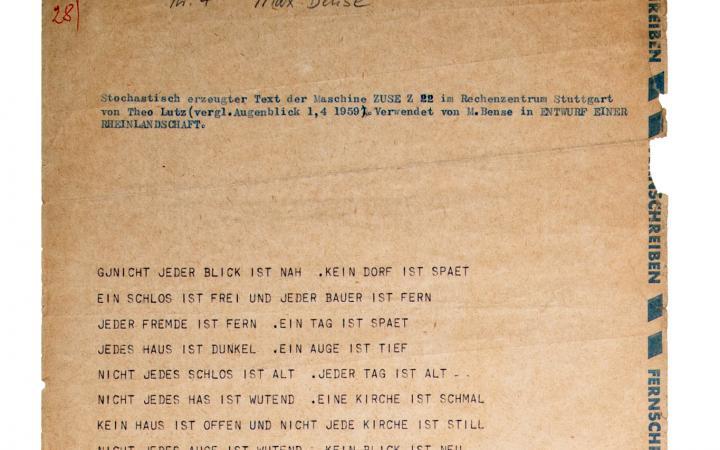 Werk - Stochastische Texte