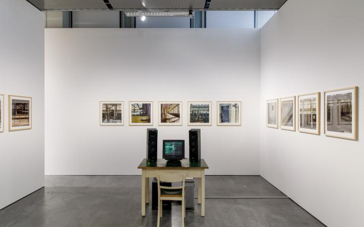 An Installation of the Exhibition »Writing the History of the Future«