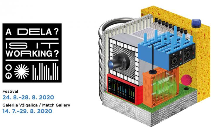 Die Grafik von »Is it working?«, eine Ausstellung der Match Galerie Ljubljana und des ZKM | Hertz-Labors