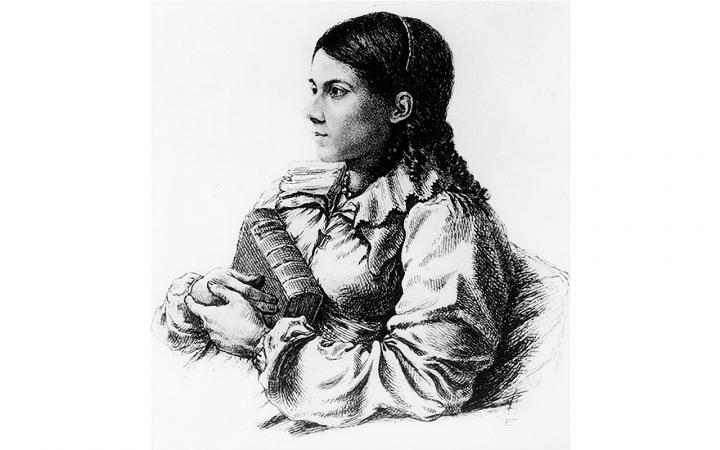 Bettina von Arnim, Radierung von Emil Ludwig Grimm, um 1809