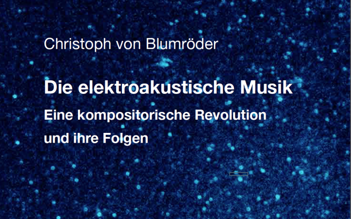 The picture shows a poster of the event »The electroacoustic music and its consequences«