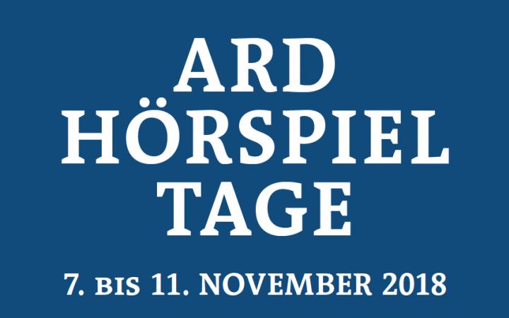 Plakat ARD Hörspieltage 2018