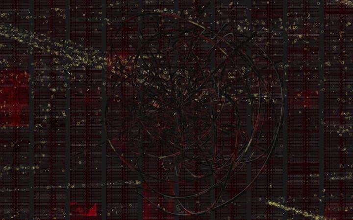 Digitale Struktur auf dunklem Hintergrund