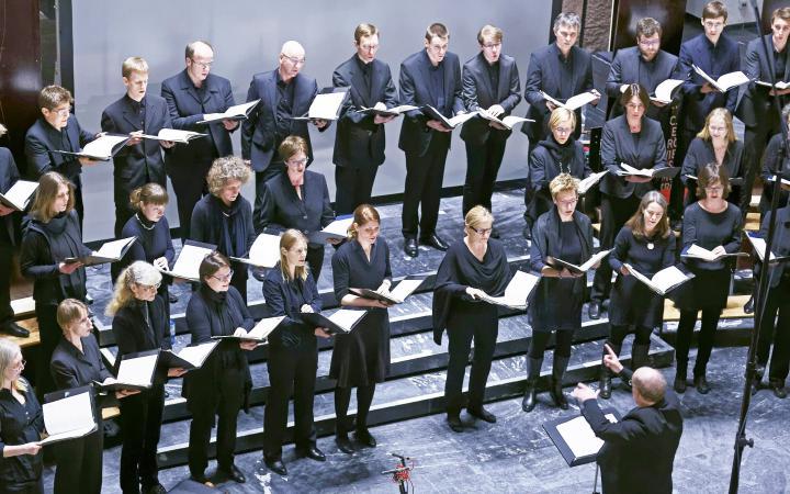 Zu sehen ist der Chor »CoroPiccolo« Karlsruhe