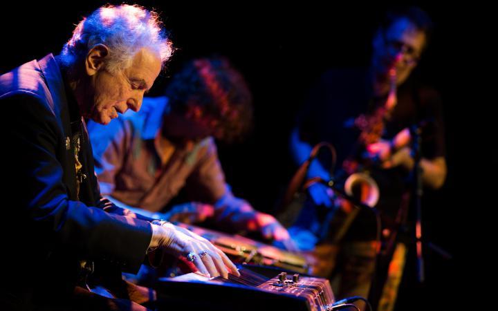 David Amram on the piano