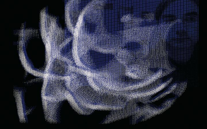 "Installationsansicht ""Liquid Perceptron"""