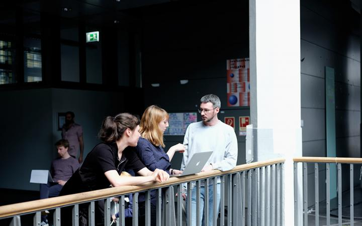 Critical Zones Study Group at Karlsruhe University of Arts and Design (HfG) during the Mai 2018 session
