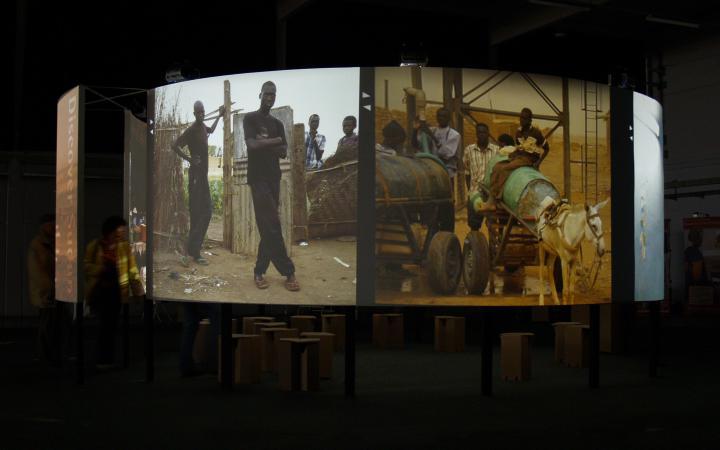 "Installationsansicht ""Discover Sudan"""