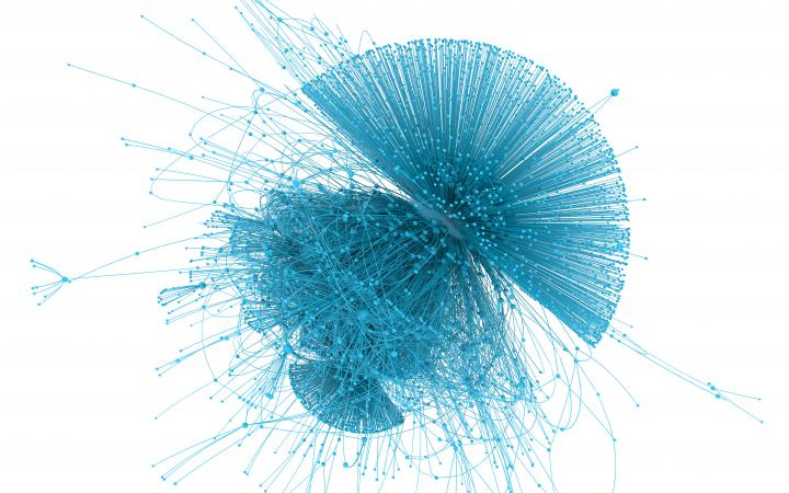 You can see a network that has a similar shape to a jellyfish.