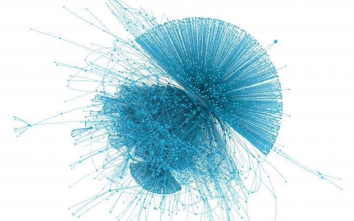 Zu sehen ist ein Netzwerk, das eine ähnliche Form einer Qualle hat.