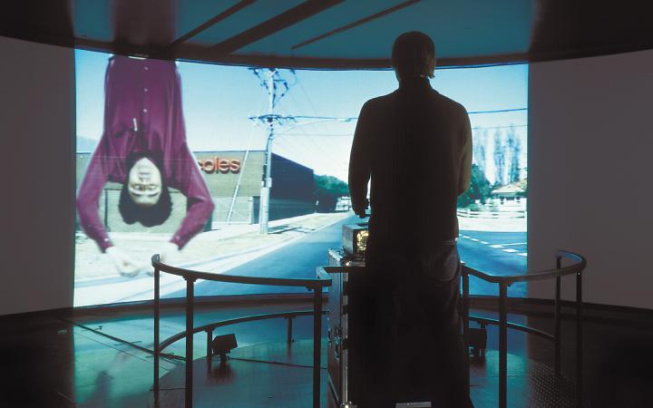 """Installationsansicht """"Jeffrey Shaw: Place-Ruhr"""""""