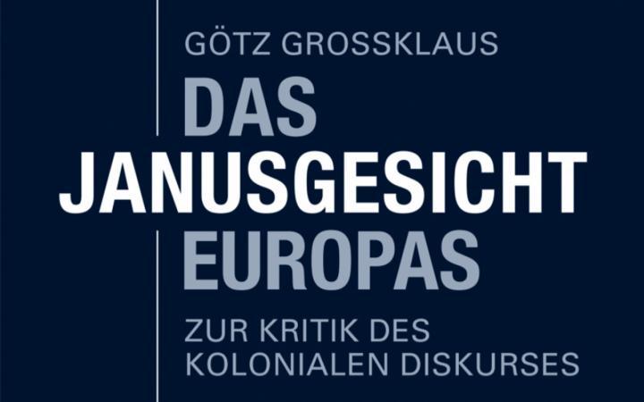 """Das Buchcover von """"Das Janusgesicht Europas"""" in nüchternem Design."""