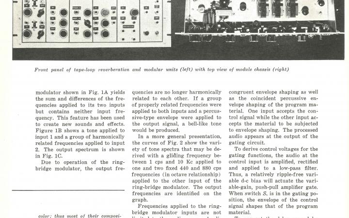 Harald Bode und Robert Moog: »Sound Synthesizer Creates New Musical Effects« (1961)