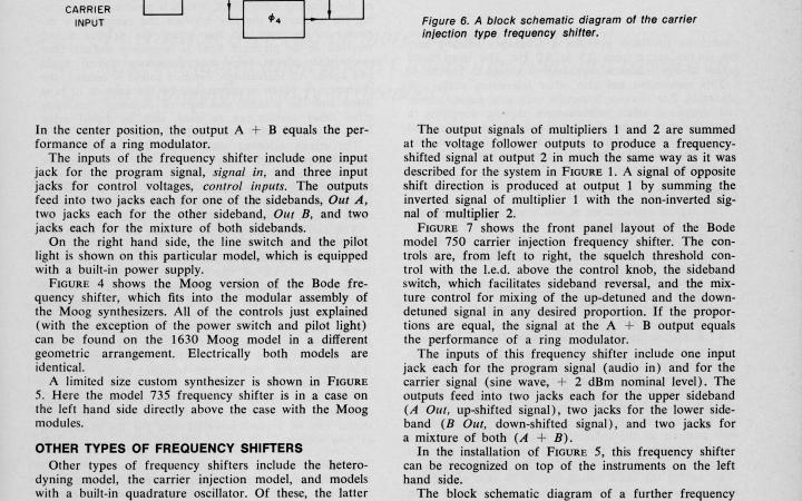 Harald Bode: »Frequency Shifters For Professionals« (1976)
