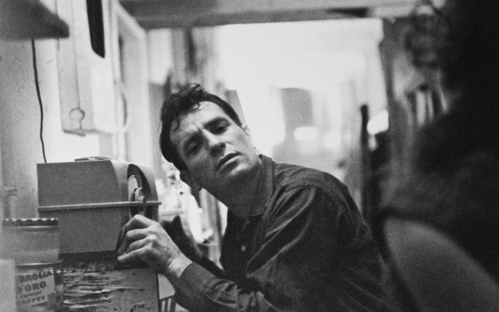 Jack Kerouac listening to the radio
