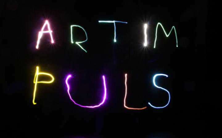 A light show will design lettering as part of the »Art im Puls« event.