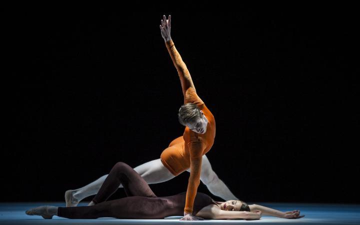 Das Bild zeigt zwei TänzerInnen.