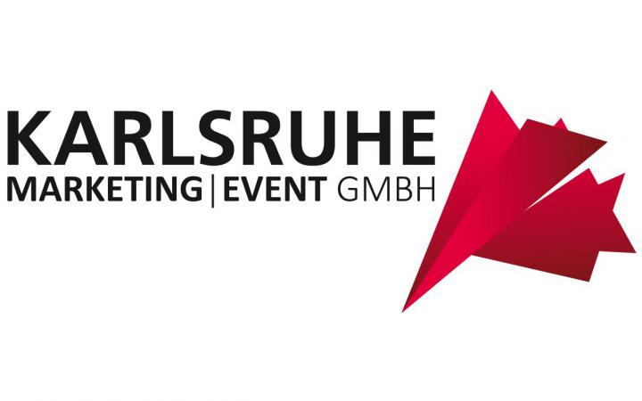 Font and Logo of Karlsruhe Marketing Event GmbH on white background