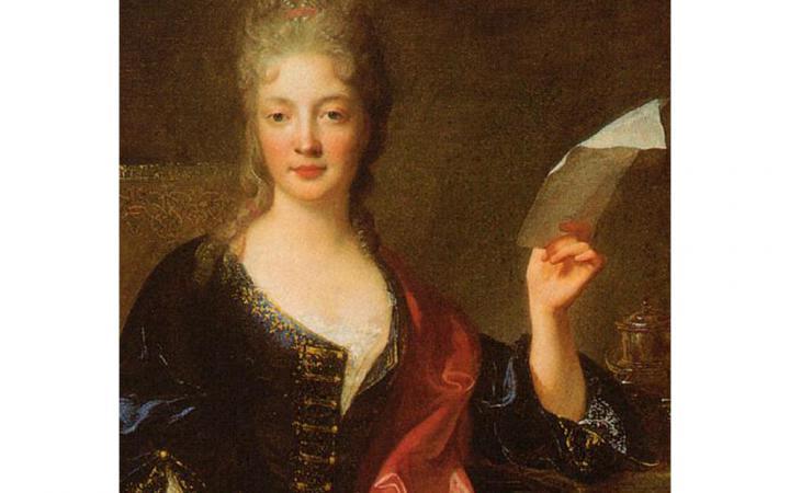 Ein barockes Gemälde der Komponistin Élisabeth-Claude Jacquet de La Guerre