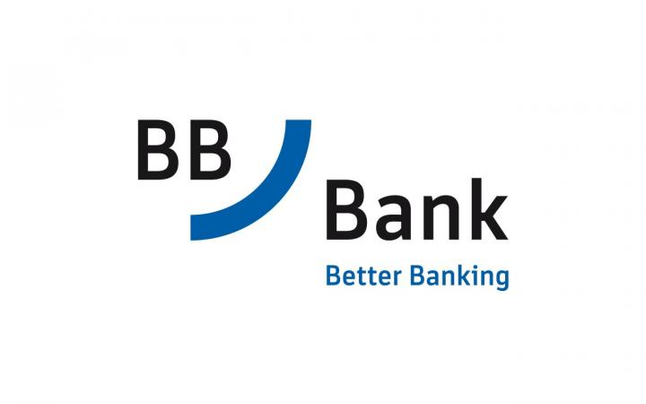 Font and Logo of BB Bank on white Background