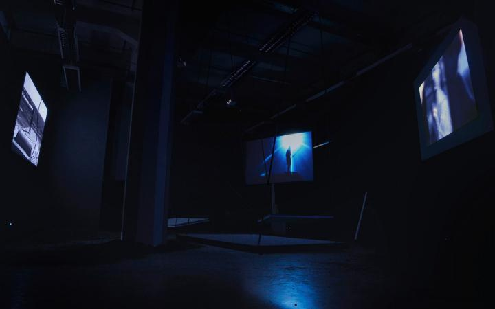 """Installation view """"""""SF Mode"""" by Lukas Rehm"""
