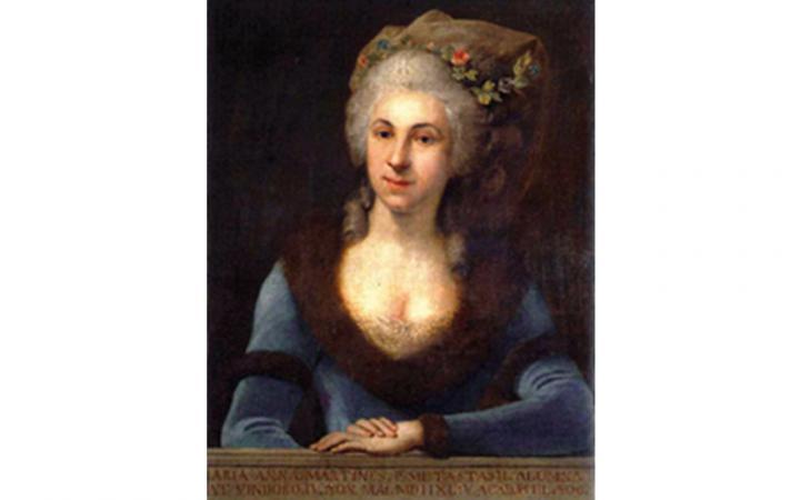 Gemälde der Komponistin Marianna von Martines