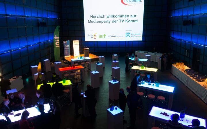 Besucher im ZKM_Medientheater