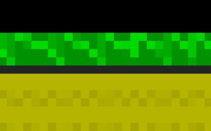 Zwei Figuren aus wenigen Pixeln gehen einen Weg entlang, hinter ihnen ist ein rotes Herz zu sehen