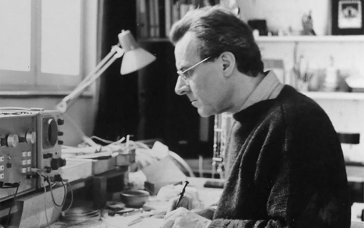 Portrait of the artist Peter Vogel