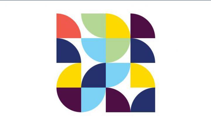 Pipes  – Vielfarbiges Logo aus Kreissegmenten