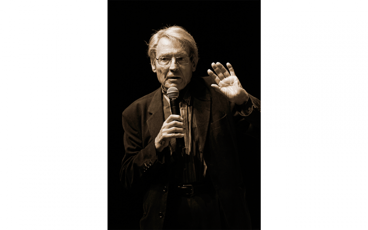 Jean-Claude Risset beim Giga-Hertz-Preis 2009