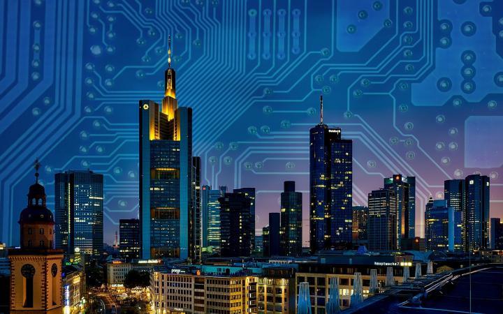 Eine technologisch vernetzte Stadt